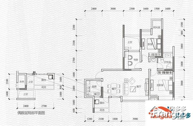 保利云山国际户型图12号楼a单元