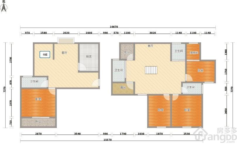 四季风景苑6室2厅246平-杭州江干二手房-房多多二手