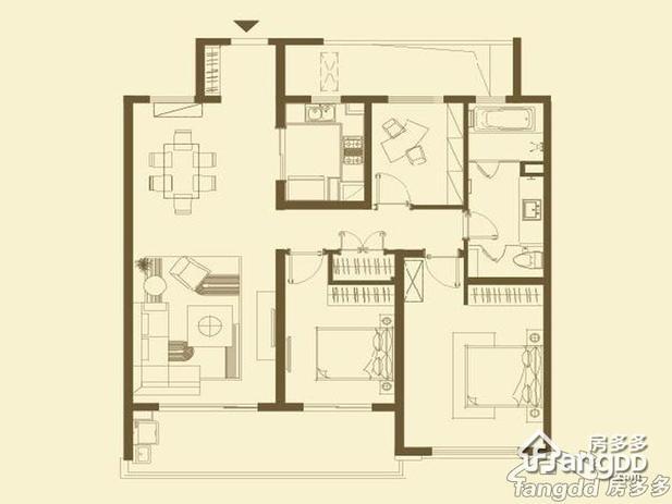 农村三房二厅平面图做层安排楼梯楼顶检测或晒东西象征性设计