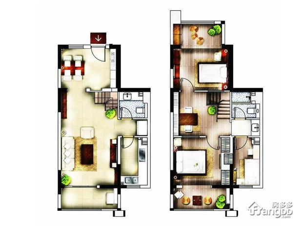 0平方3室2厅设计图 90平方3室2厅装修图 90平3室2厅房屋设计图图片