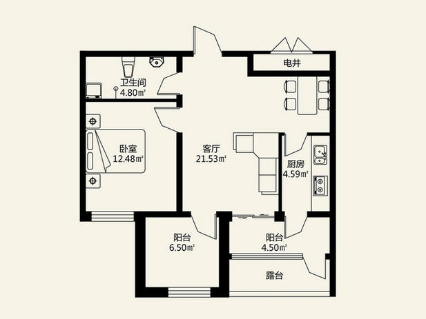 房屋设计图 平面 图高清   100平方米两面光房子平面图下载/