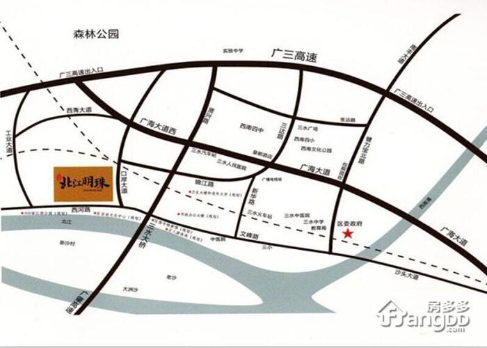 桂平市北江新区规划图