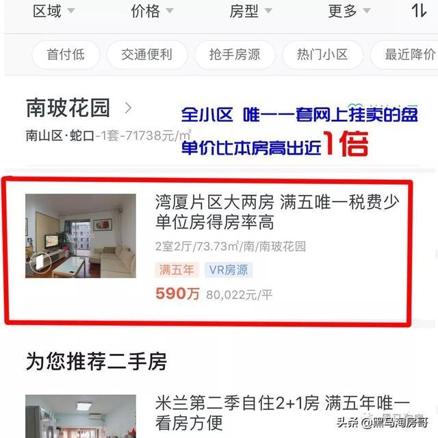 深圳南山蛇口,400W买待拆迁72平两房,到底值不值?