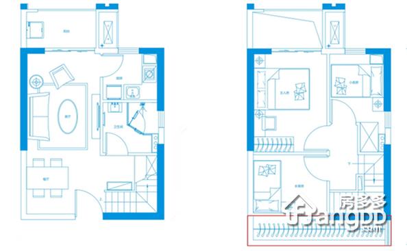 44平米公寓 3室2厅2卫44㎡