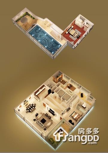 高•尚领域4室3厅5卫户型图