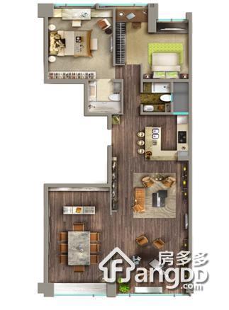 高•尚领域4室2厅3卫户型图