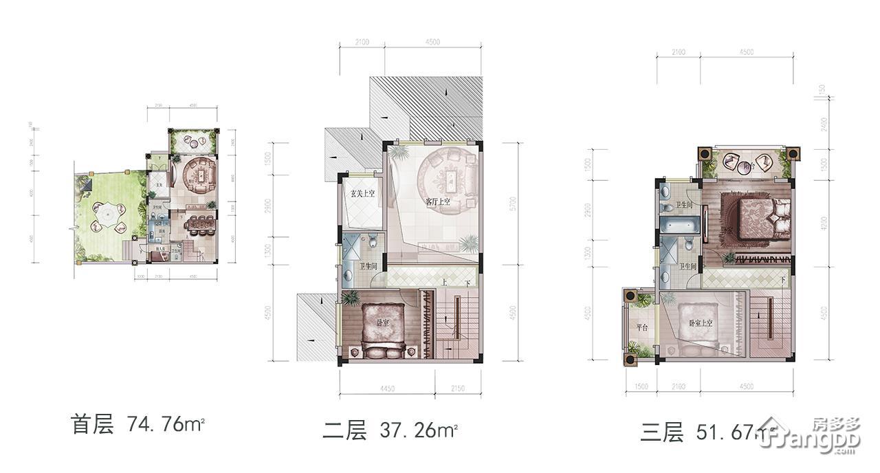 佳兆业东江新城6室户型图