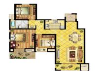 中锐星尚城3室2厅1卫户型图