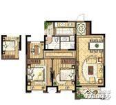 金色年华3室2厅1卫户型图