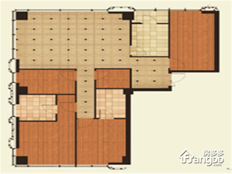 尚峯壹號4室2厅3卫户型图