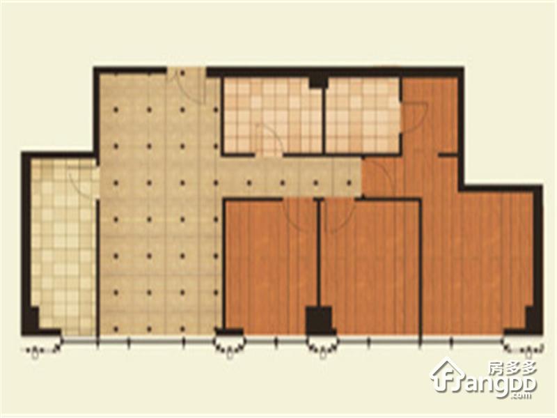 尚峯壹號3室2厅2卫户型图