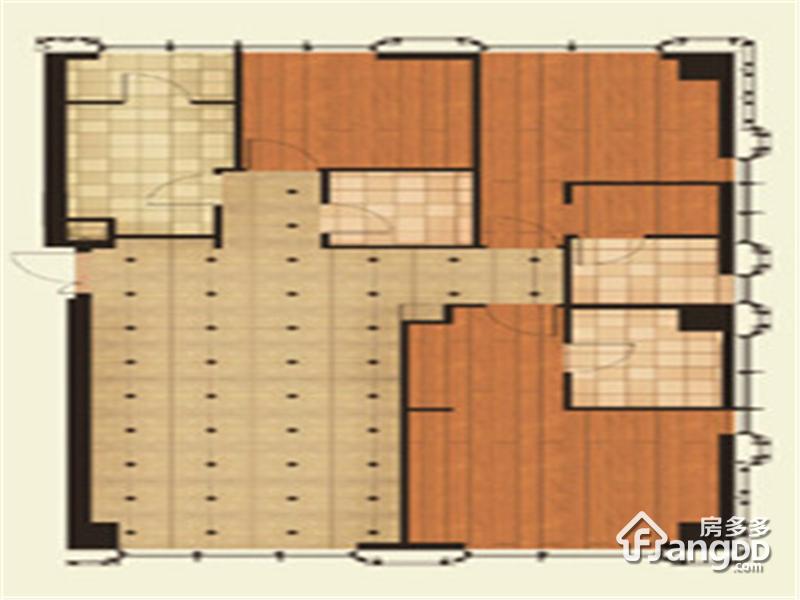 尚峯壹號3室2厅3卫户型图