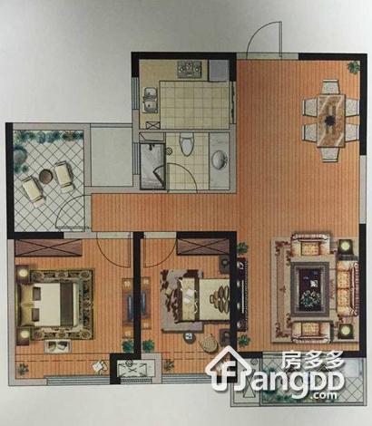 万锦城3室2厅1卫户型图