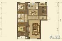 中天博朗天御二期3室2厅1卫户型图