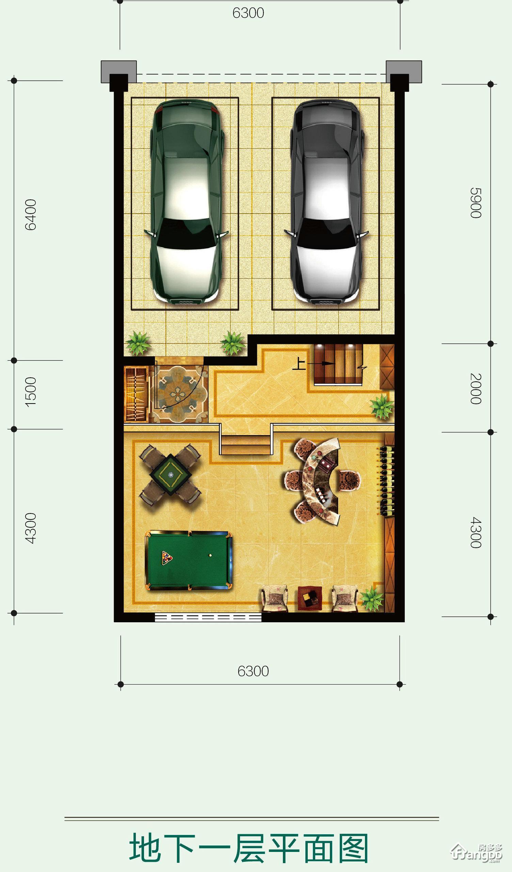 森林新都孔雀城4室3厅4卫户型图