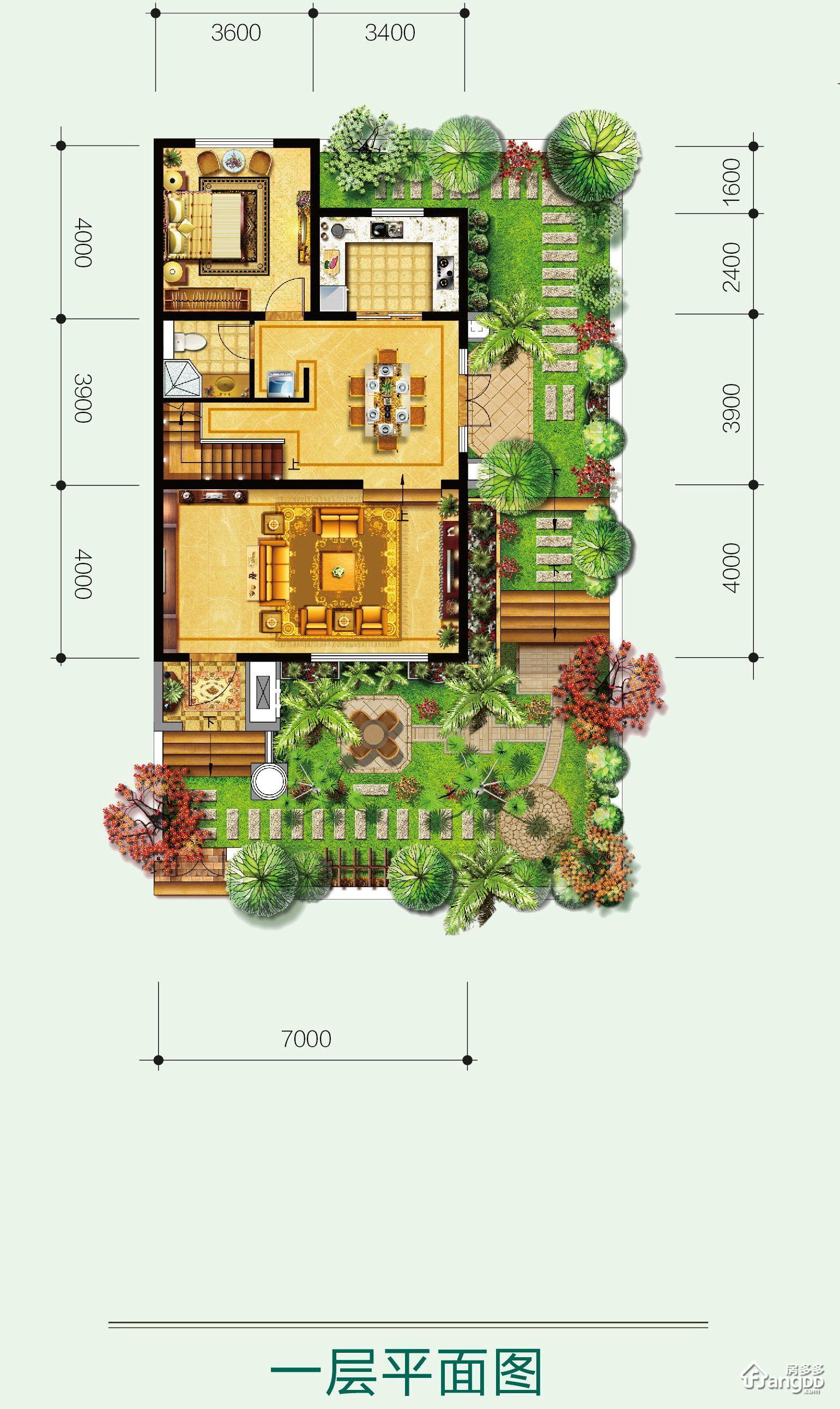 森林新都孔雀城4室2厅4卫户型图