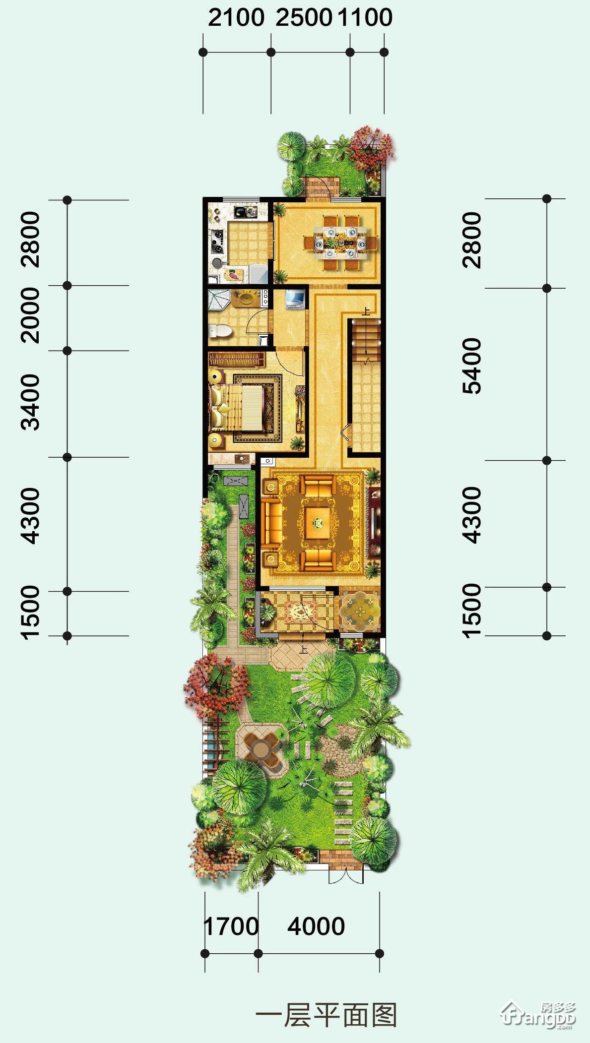 森林新都孔雀城3室2厅3卫户型图