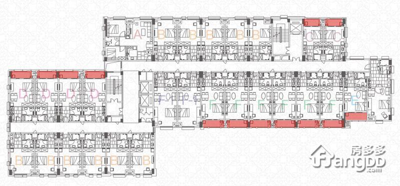 世茂APM1室1厅1卫户型图