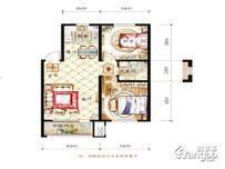 保利白沙林语2室1厅1卫户型图