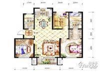 保利白沙林语3室2厅2卫户型图