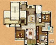 浦发罗兰翡丽3室2厅2卫户型图