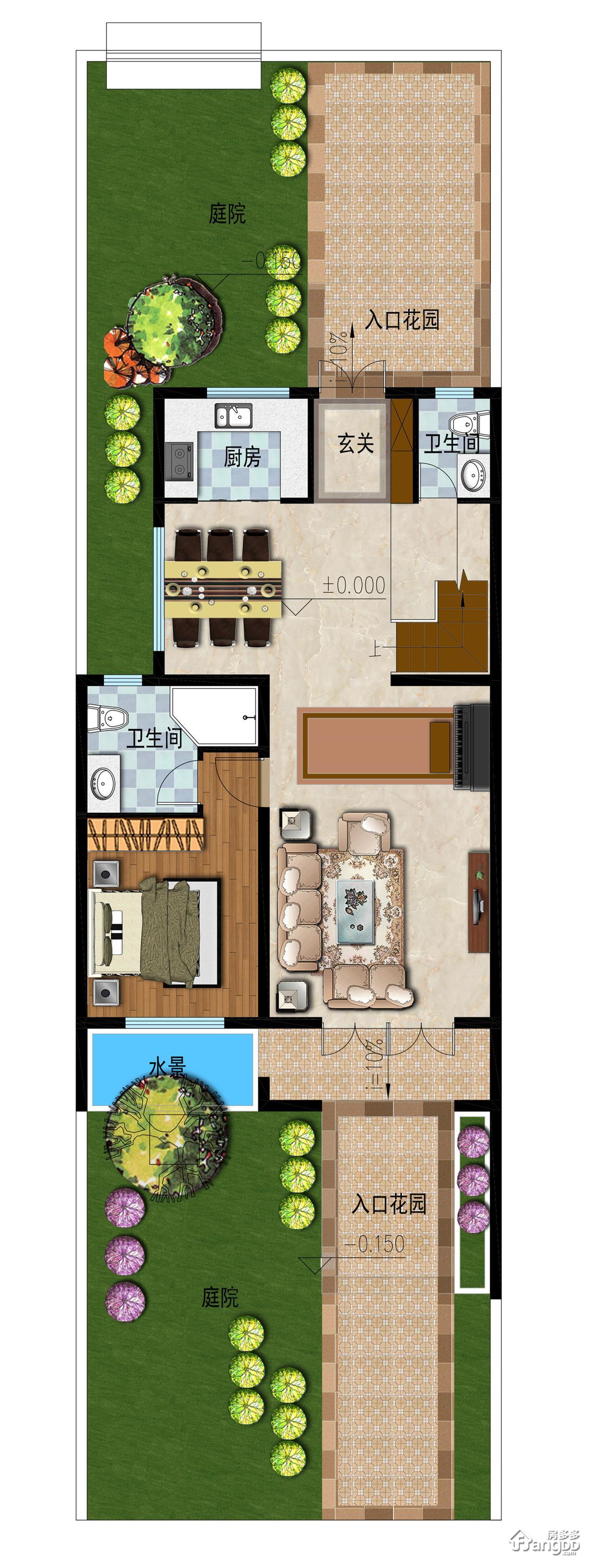 雨润太阳城4室2厅4卫户型图