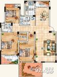 磨盘山8号3室2厅2卫户型图