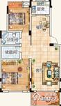 磨盘山8号2室2厅1卫户型图
