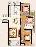 金域华府3室2厅2卫户型图