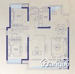 红谷瑞仕城际广场3室2厅2卫户型图