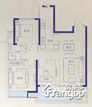 红谷瑞仕城际广场3室2厅1卫户型图