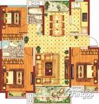 中国铁建青秀城·领秀3室2厅2卫户型图