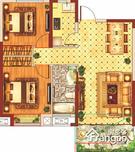 中国铁建青秀城·领秀2室2厅1卫户型图