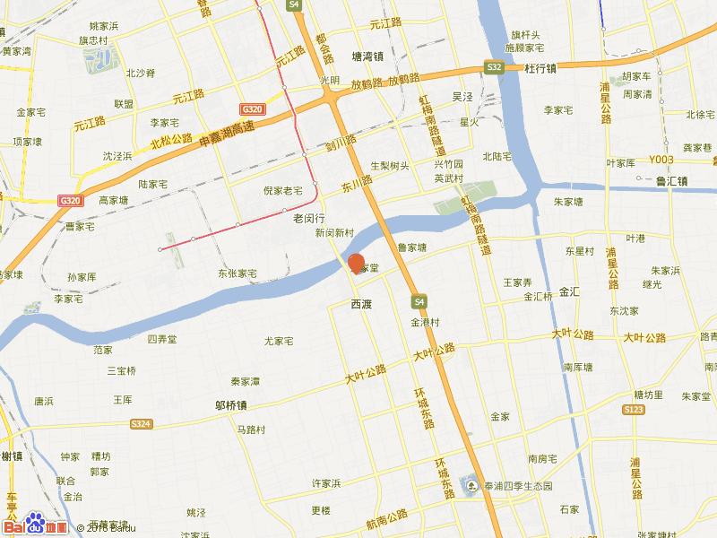 闸园新村交通图
