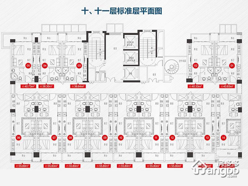 建华玖珑湾1室1厅1卫户型图