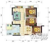 龙腾东麓城3室2厅1卫户型图