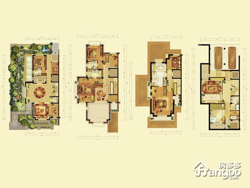燕西华府5室4厅7卫户型图