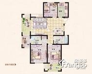 易居公馆3室2厅2卫户型图