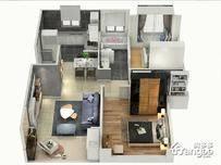 浦发罗兰翡丽3室2厅1卫户型图