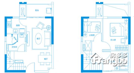 46平米公寓 3室2厅2卫46㎡