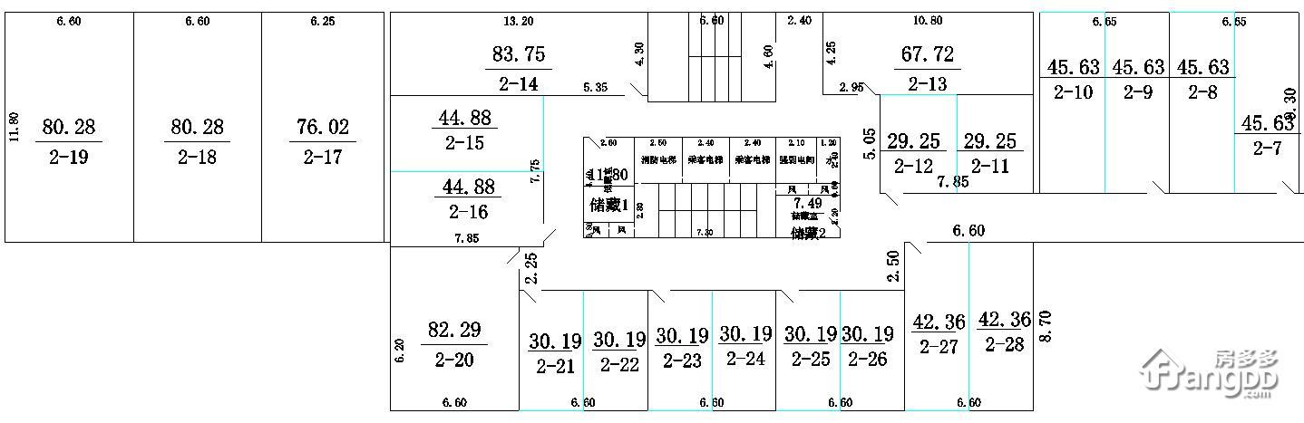 双龙物流商贸城1室1厅1卫户型图