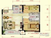 保利紫荆公馆2室2厅1卫户型图