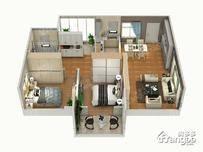 幸福城珑翠芳庭3室2厅1卫户型图