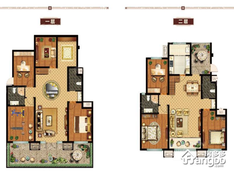 美国小镇7室4厅4卫户型图