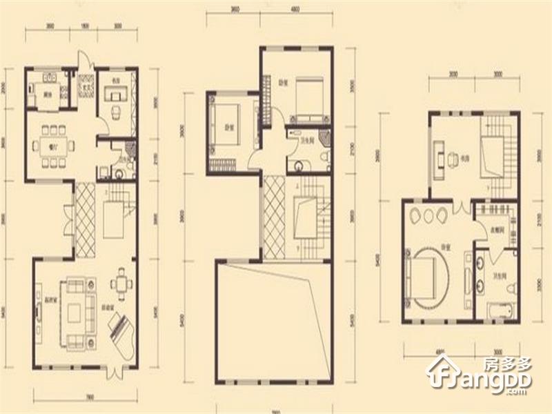 中海公园城4室3厅3卫户型图