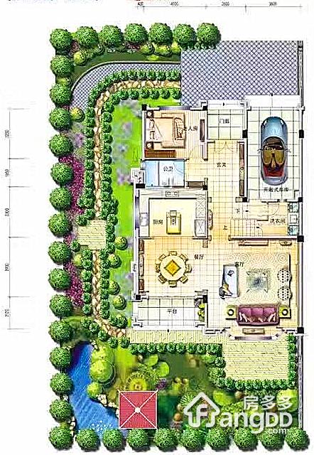 花溪碧桂园4室3厅4卫户型图