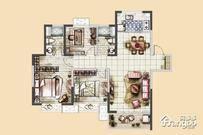 美的·公园天下4室2厅2卫户型图