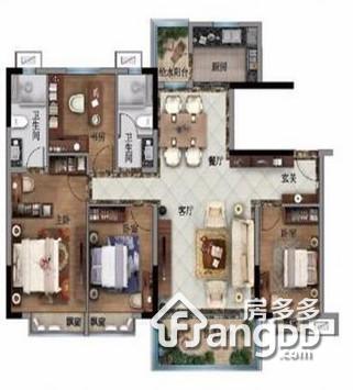 碧桂园天誉 4室2厅2卫