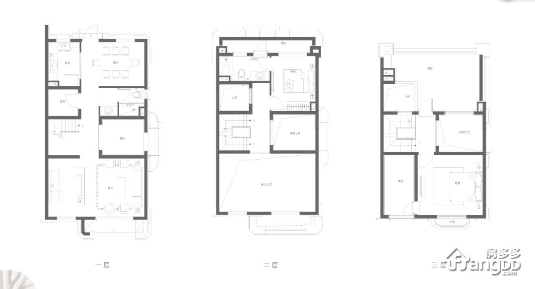 C户型 2室2厅2卫125㎡