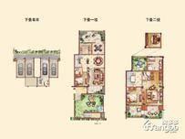 绿地香奈4室2厅3卫户型图